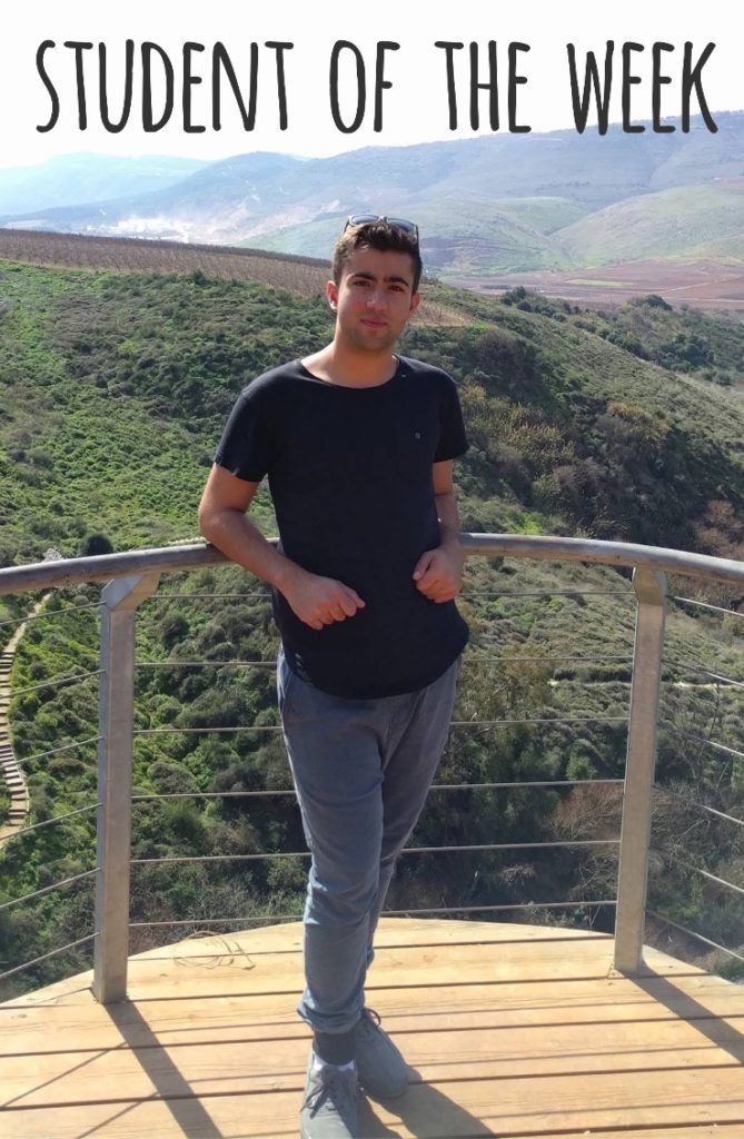 Student of the week - ofir zeev