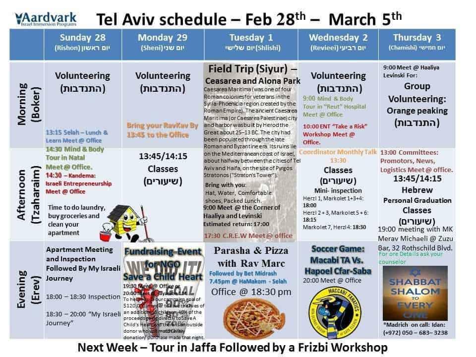 Weekly updates - tel aviv feb 26, 2016