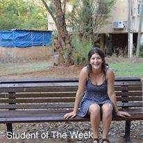 Student of the week – Maya Weintraub