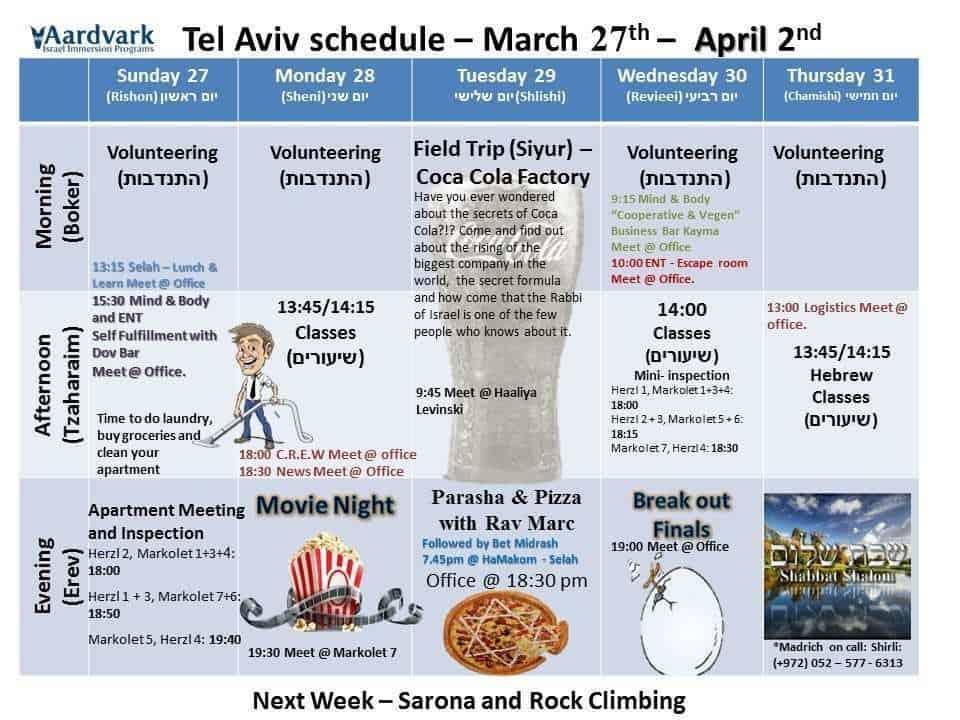 Tel aviv march 27th april 2nd 1