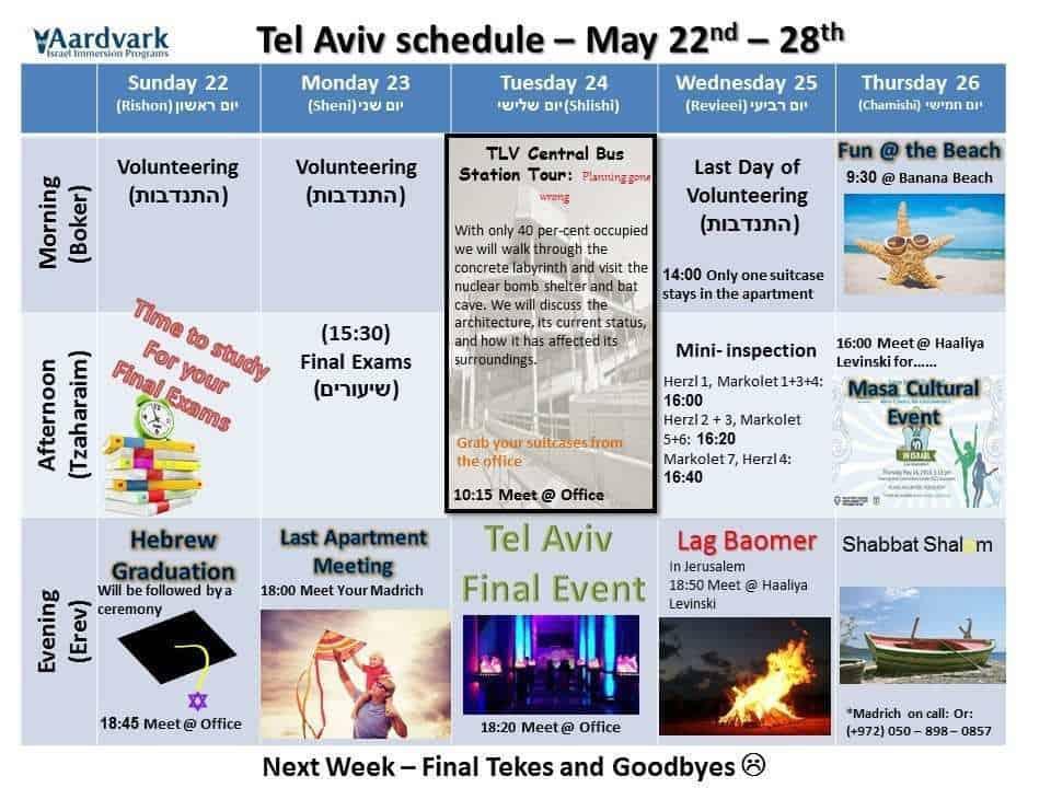 Tel aviv may 22th 28th 1