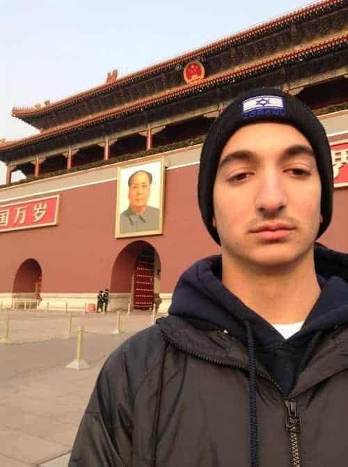 israel in Tiananmen square
