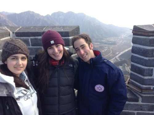 israel at The Great Wall of china