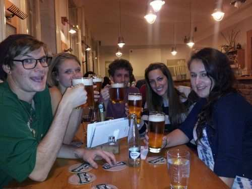 gap year program enjoyed a beer at the restaurant
