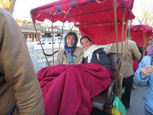 gap year program on a rickshaw in china