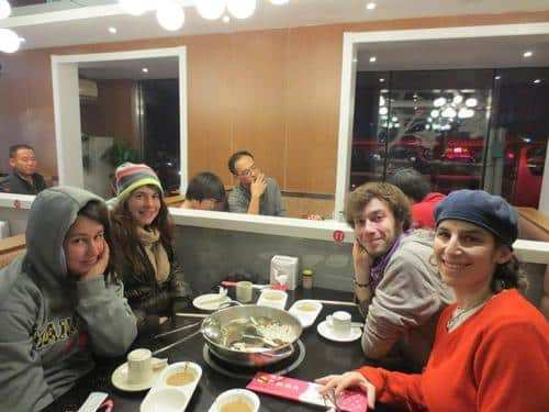 gap year program in israel eating Chinese food in china