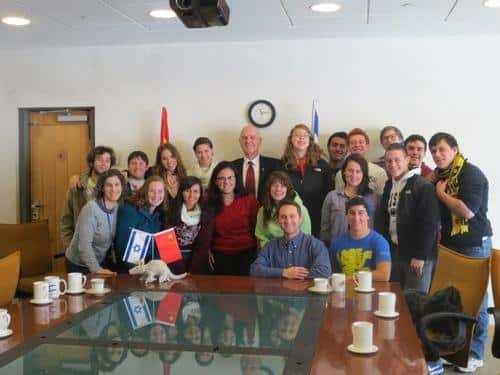 gap year program in israel visiting  Israeli Embassy in china