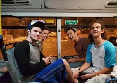 gap year program on a bus in Jerusalem