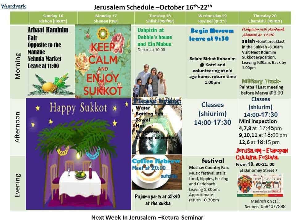Weekly updates - jerusalem october 13, 2016