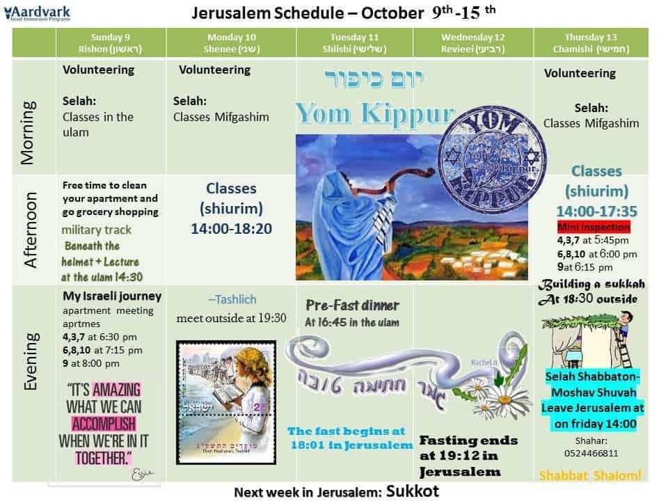 Weekly updates - jerusalem october 7, 2016
