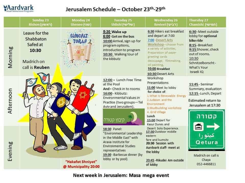 Weekly updates - jerusalem october 23, 2016