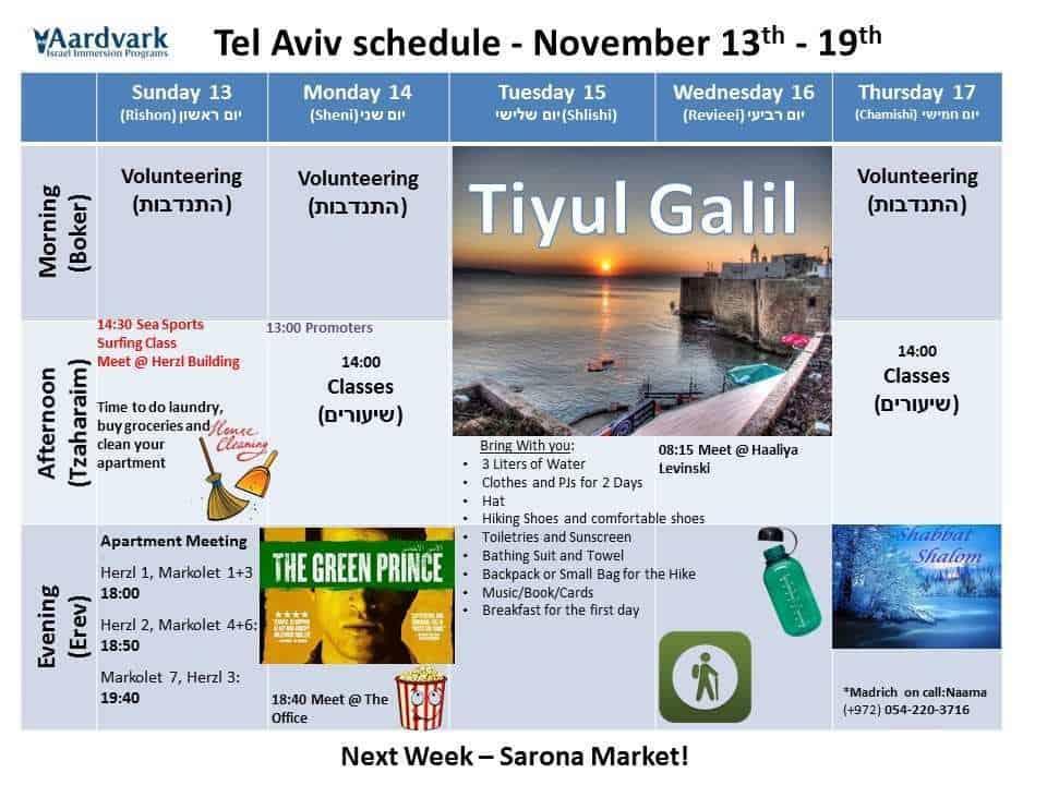 Tel aviv november 13th 19th 1