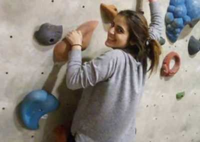 gap year program in israel rock climbing