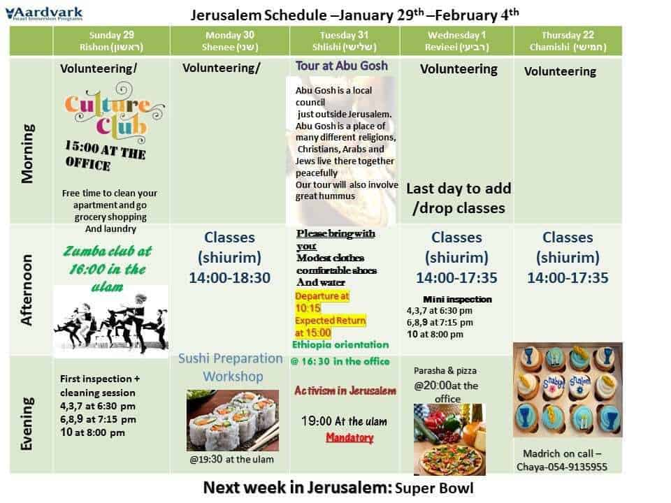 January 29th –February 4th
