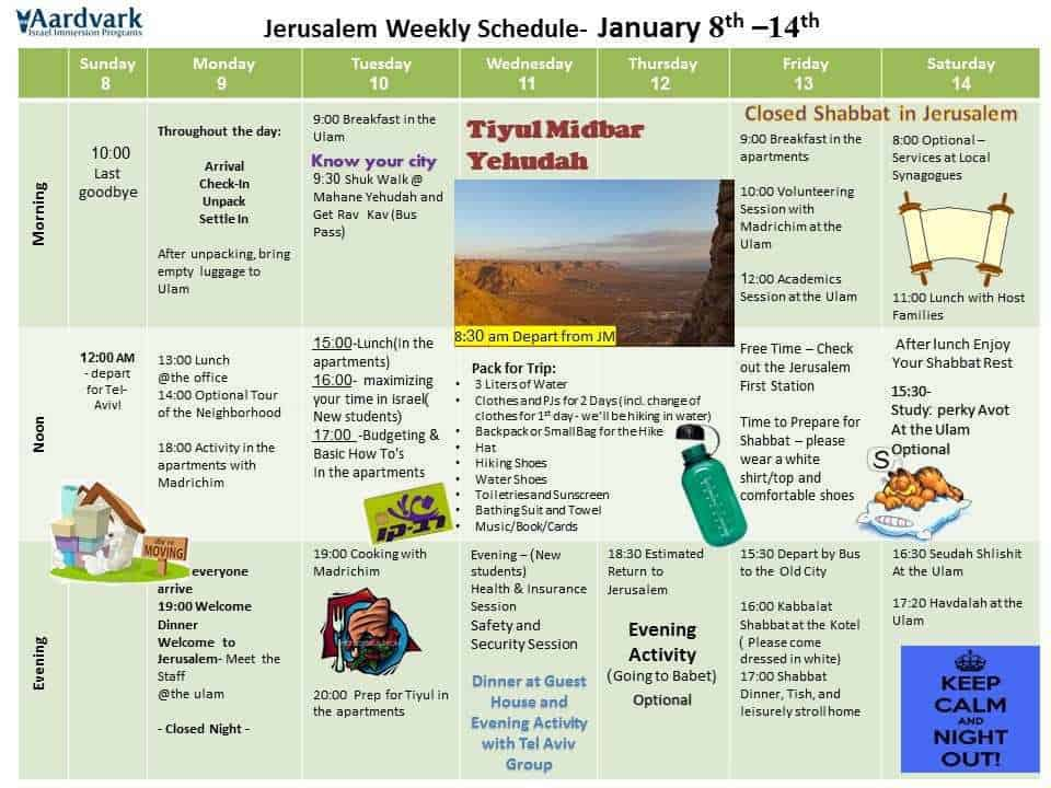 Jerusalem Orientation - Spring 2017