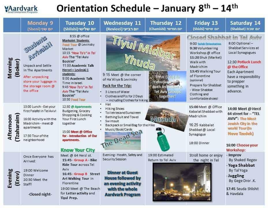 Orientation- Spring Semester 2017
