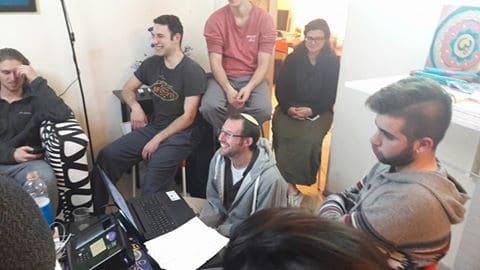 weekly updates gap year program in israel watching super bowl