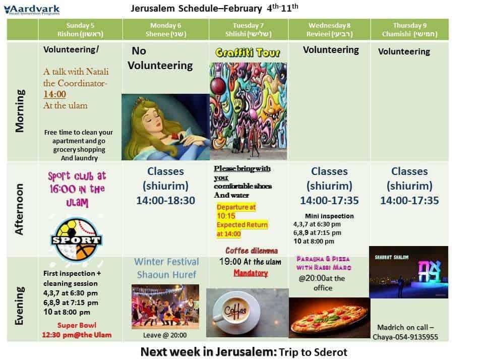 Weekly updates - jerusalem february 5, 2017