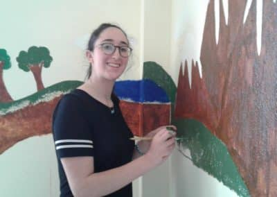gap year in israel visiting nepal week 7  painting wall