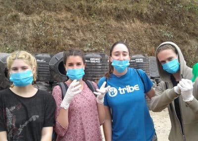 gap year program in nepal wearing mask
