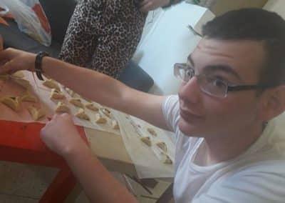 making hamentashens for purim