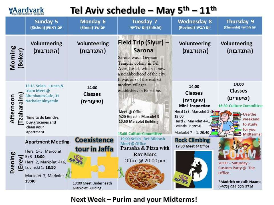 Tel aviv march 5th 11th 1