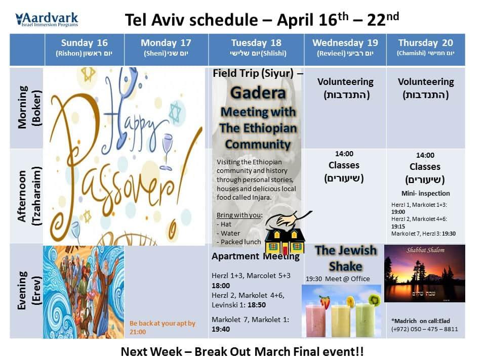 Tel aviv march 19th 25th 1