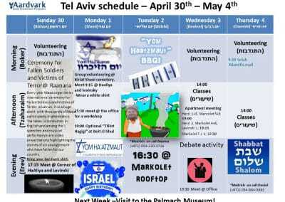 Tel Aviv April 30th- May 5th 7