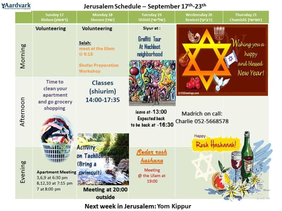 Weekly updates - jerusalem september 15, 2017