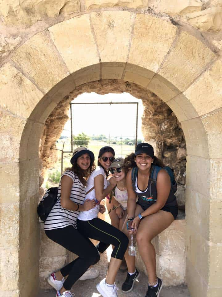 Camping weekend on a moshav near modiin called havat habarbur