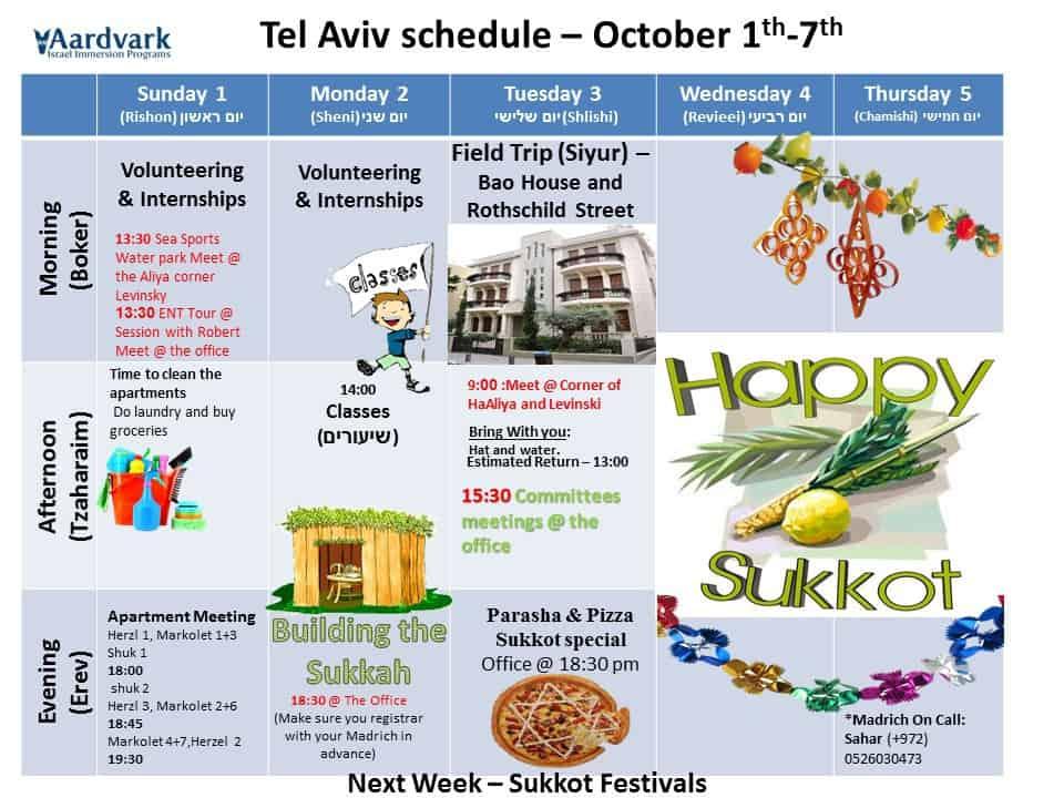 Weekly updates - tel aviv september 29, 2017