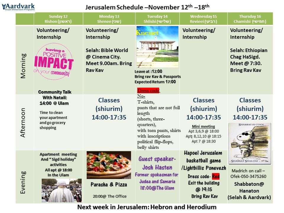 Weekly updates - jerusalem november 10, 2017