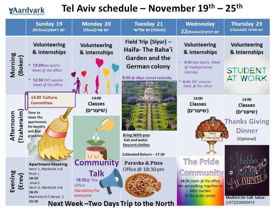 Weekly updates – tel aviv november 17, 2017
