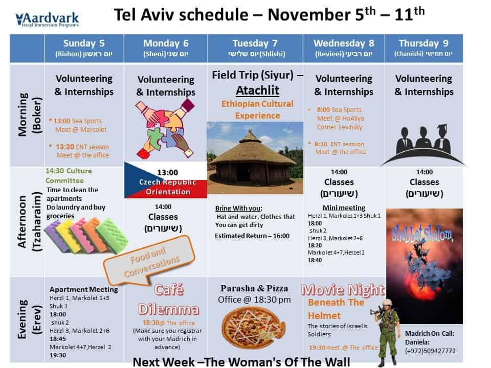Tel aviv november 5th 11 th 1