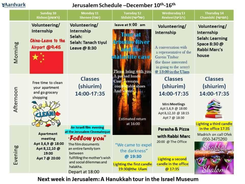 Weekly updates - jerusalem december 7, 2017