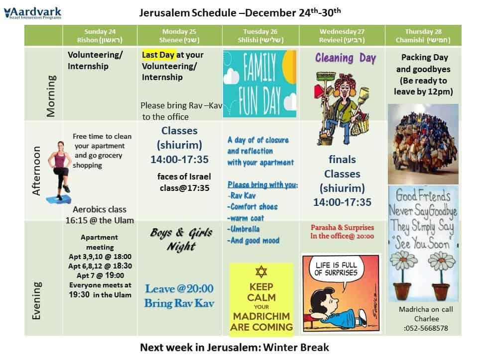 Weekly updates – jerusalem december 22, 2017