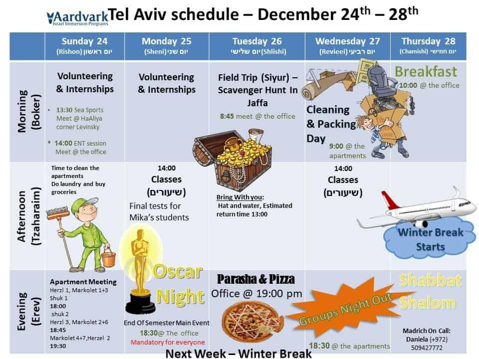 Tel aviv december 24th 28th