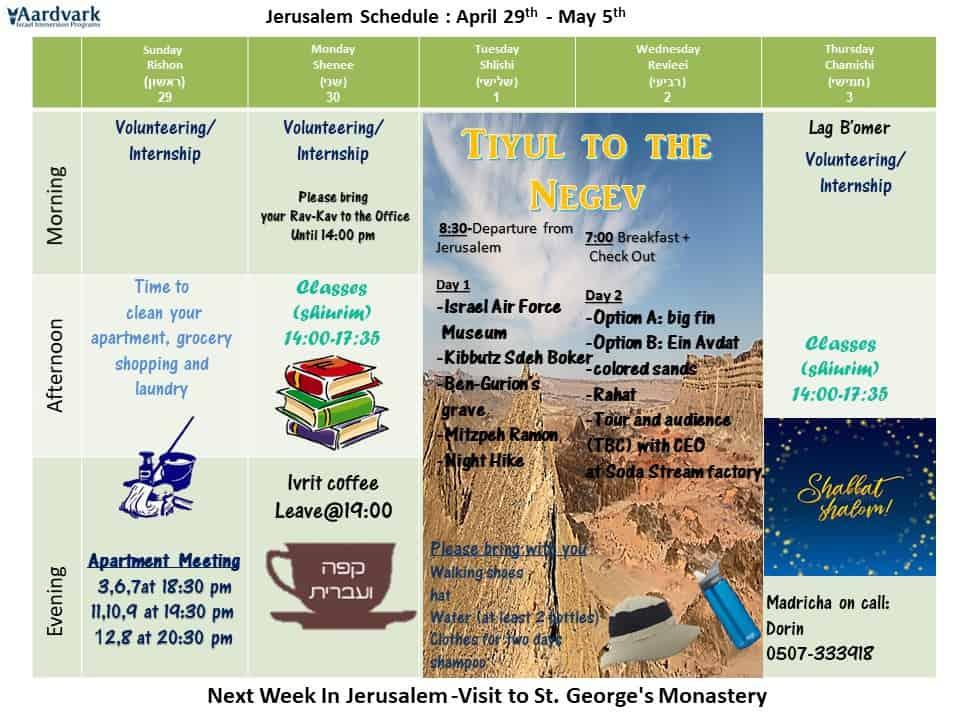 April 29th may 5th