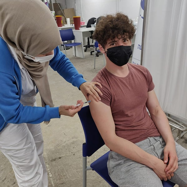 Getting vaccinated in Yafo