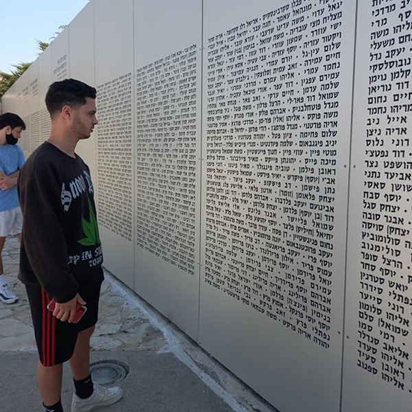 The names of the fallen soldiers