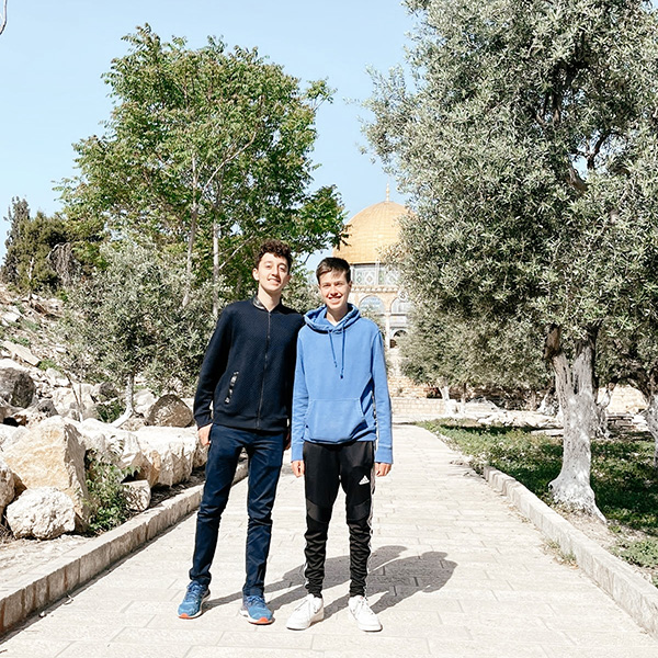Josh Abrahams & Oliver Saadia on their way to the Temple Mount