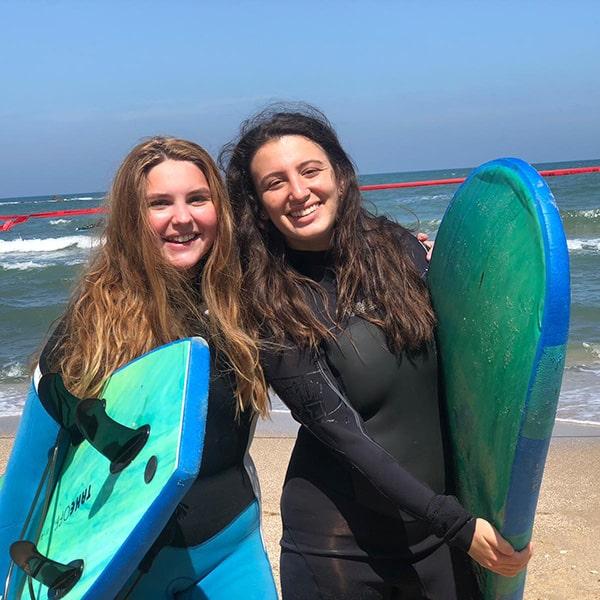 surfing in Tel Aviv Beach Fun in the sun