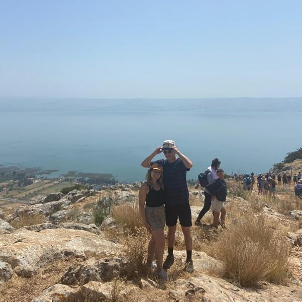 beach and swam in the Kinneret