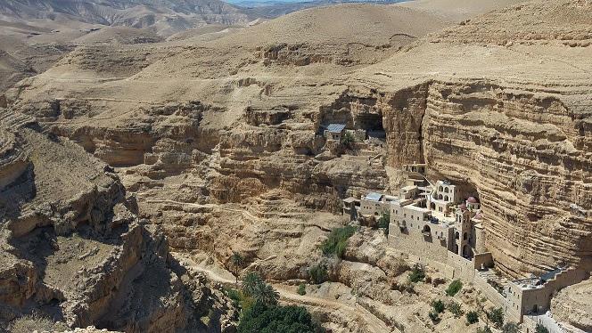 Saint george monastery in wadi qelt