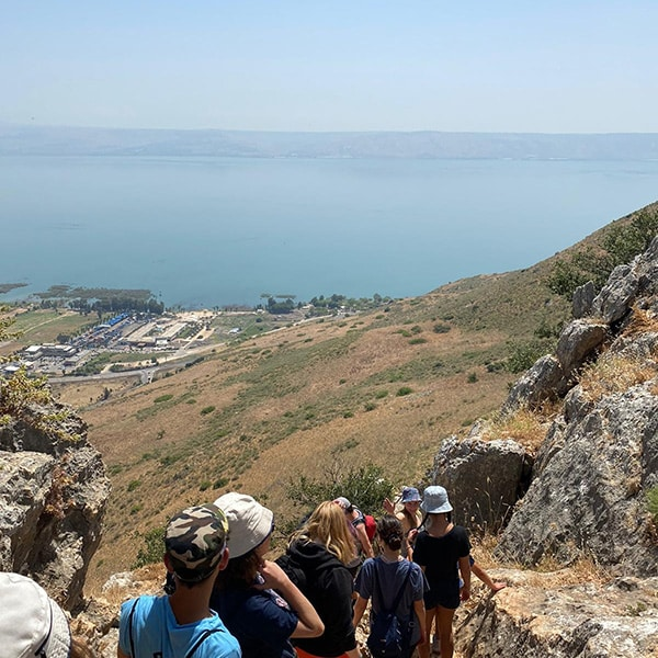 Hiked down mount arbel