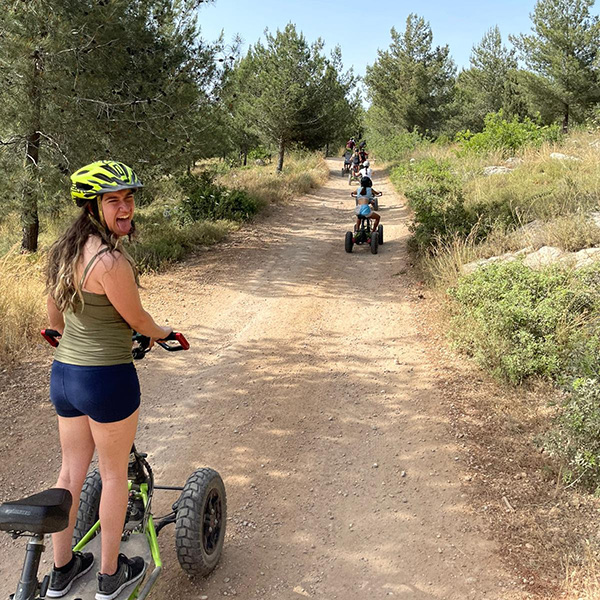 Extreme track at ben shimon forest