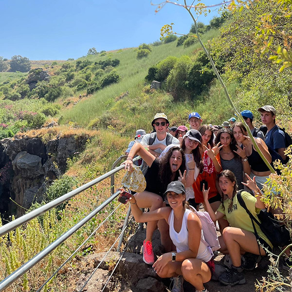 swimming in the Golan streams and hanging out in nature