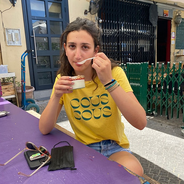 Tasting the delicous food of shuk hacarmel