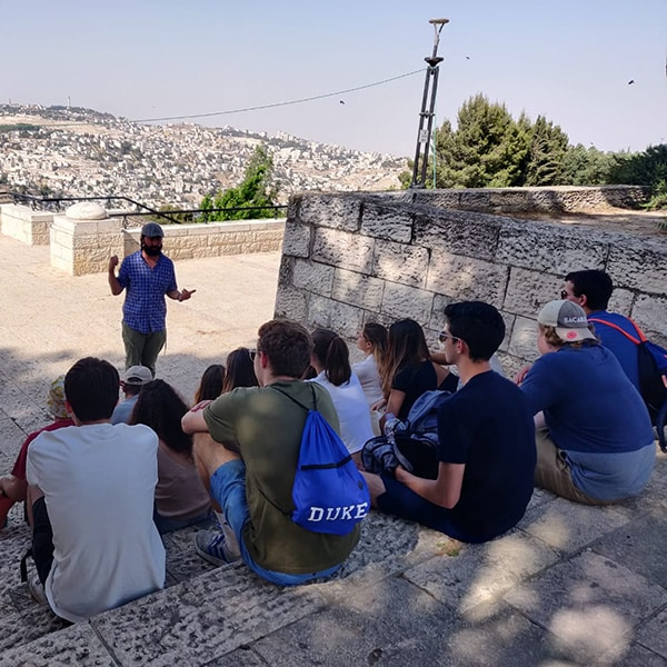 Learning about the different areas of jerusalem as seen from the promenade