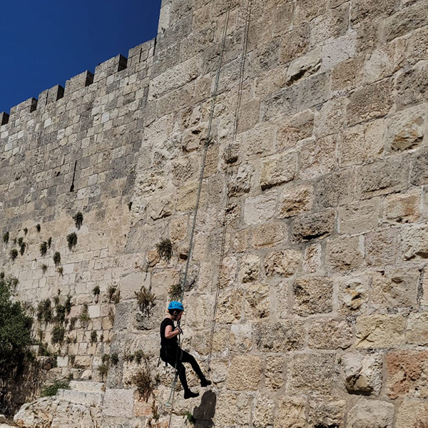 Extreme Track went for rappelling on the walls of the Old City of Jerusalem